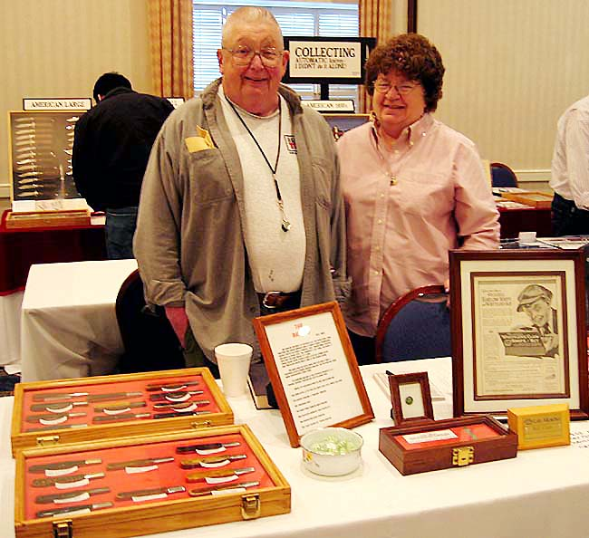 Bill & Linda Cain, coordinators for the Marlboro MA NCCA Show