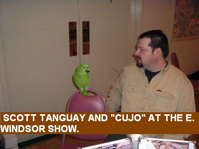 "Scott Tanguay and ""Cujo"" at the E. Windsor Show."