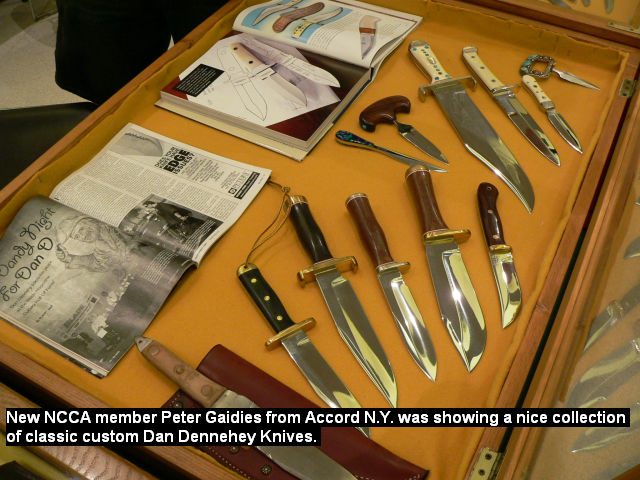 New NCCA member Peter Gaidies from Accord NY was showing a nice collection of classic custom Dan Dennehey Knives.