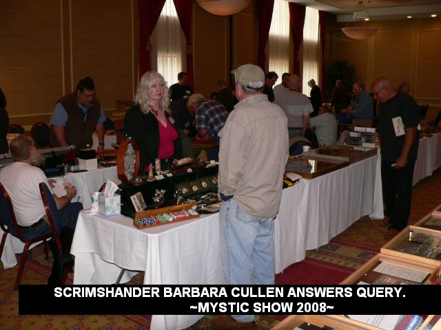 Scrimshander Barbara cullen answers query.