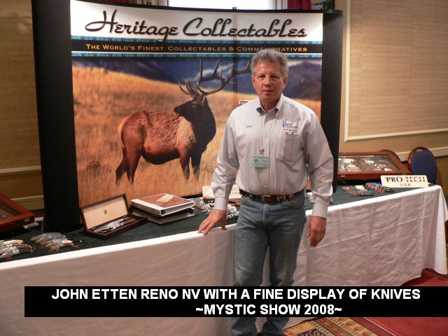 John Etten Reno Nv with a fine display of knives.