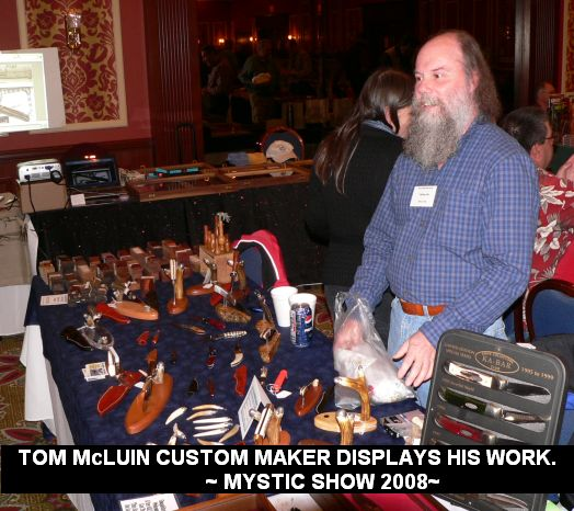 Tom McLuin custom maker displays his work.