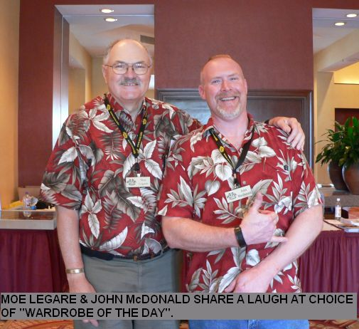 "Moe LeGare & John McDonald Share a laugh at choice of ""Wardrobe of the day""."