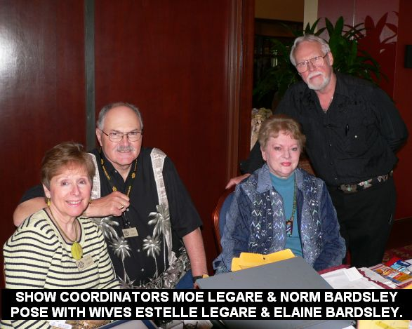 Show coordinators Moe LeGare & Norm Bardsley pose with wives estelle LeGare & Elaine Bardsley.
