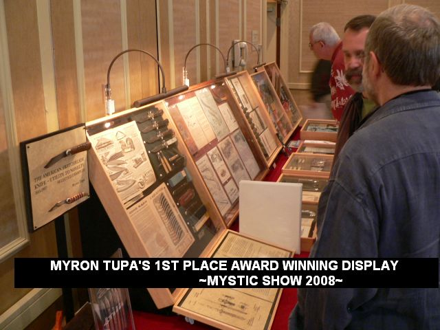 Myron Tupa's 1st place award winning display