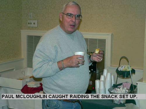 PAUL MCLOUGHLIN CAUGHT RAIDING THE SNACK SET UP.